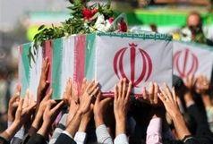 میدان بزرگمهر سیاهپوش شد/ حضور هزاران نفر از مردم در مراسم تشییع مدافعان امنیت انقلاب اسلامی