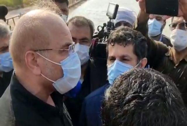 بازدید رییس مجلس از تصفیه خانه شهید کشتکار آبادان