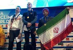 نخستین مدال انفرادی جام جهانی بزرگسالان بر گردن یخ نورد اصفهانی