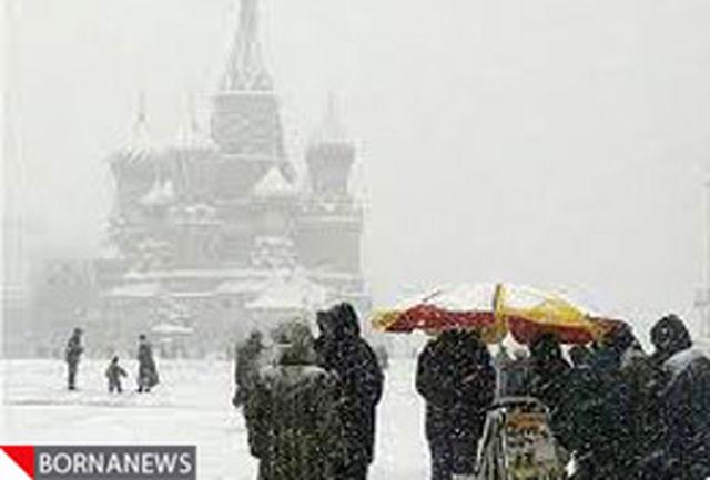 برف مسکو را خاموش کرد
