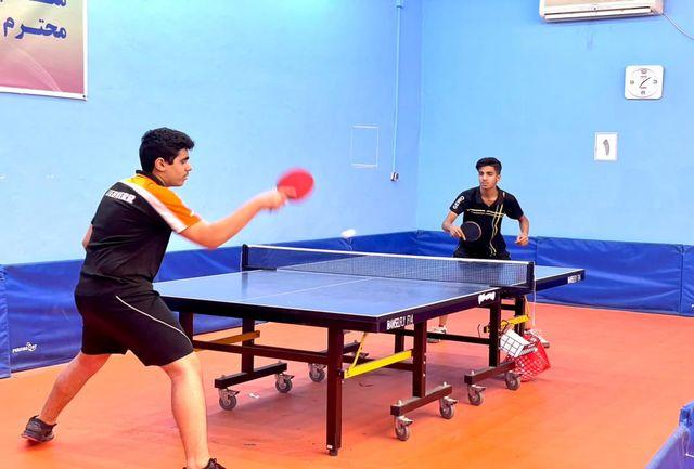 رقابت ۲۴ بازیکن برتر استان هرمزگان در مسابقات تنیس روی میز قشم