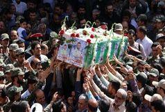 تشییع باشکوه پیکر شهید نیروی انتظامی در بیرجند