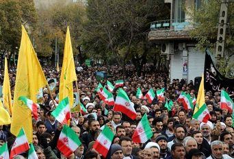 راهپیمایی مردم تبریز در محکومیت اقدامات آشوبگران