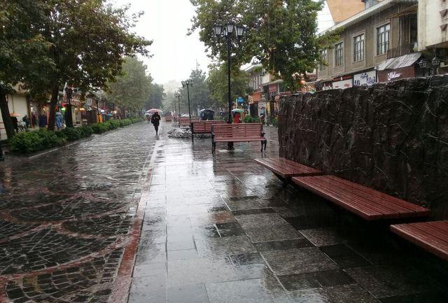 بارش برف و باران، کاهش دمای هوا و احتمال وقوع سیلاب در گیلان