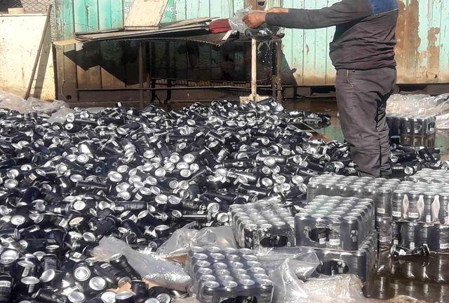 معدومسازی 432 هزار بطری نوشابه انرژیزا قاچاق در آبادان
