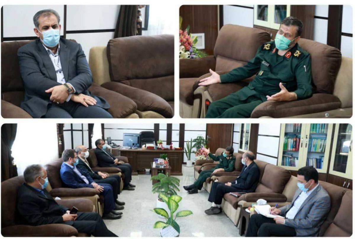 استاندار قزوین با فرمانده جدید سپاه پاسداران قزوین دیدار کرد