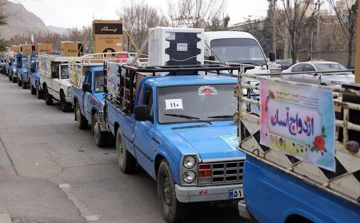 ۶۵ جهیزیه اهدایی مقام معظم رهبری به زوج های آبادان و اروندکنار رسید