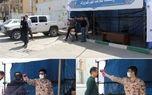 استقرار ایستگاه سلامت کرونا در شهر کهریزک