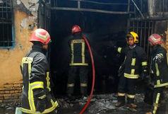 آتشسوزی کارگاه توزیع سیلندر گاز مایع در قم/آتش با تلاش عوامل آتشنشانی مهار شد