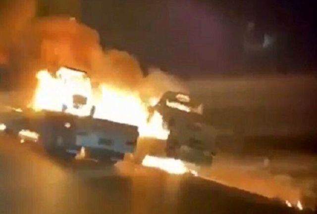حمله به کاروان تدارکات نظامیان آمریکا در استان صلاح الدین عراق