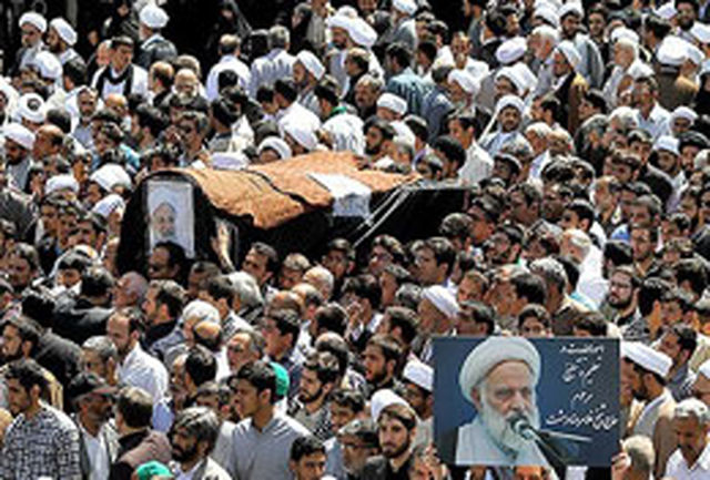 پیکر حجت الاسلام دهشت در مشهد تشییع شد