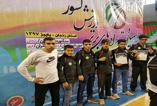 2 نشان برنز رهاورد موی تای کاران قزوینی از زنجان