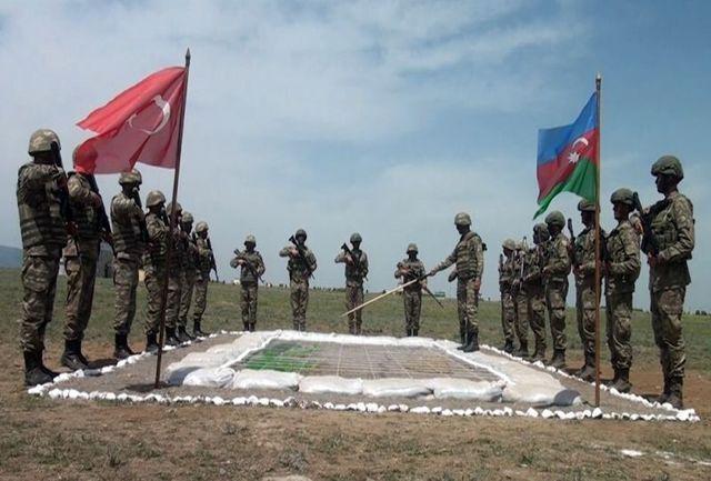 رزمایش نظامی مشترک جمهوری آذربایجان و ترکیه برگزار شد
