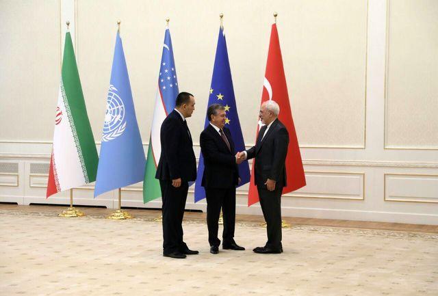 ظریف با رییس جمهوری ازبکستان دیدار کرد