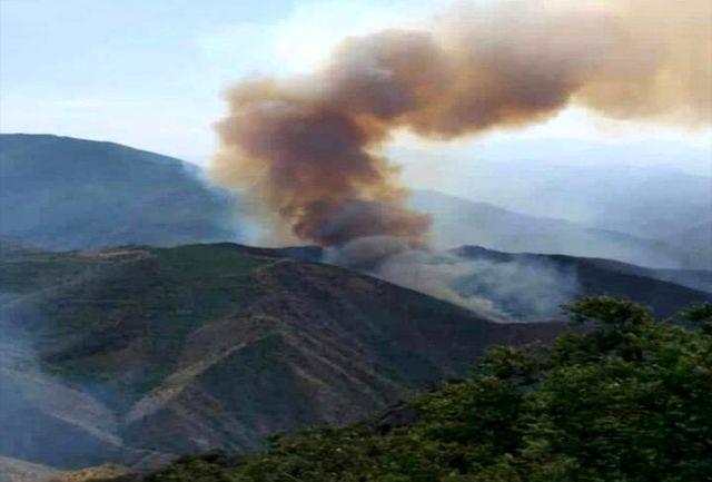 آتشسوزی در جنگلهای ارسباران/  نابودی ۳۰۰ هکتار از این جنگلهای منطقه