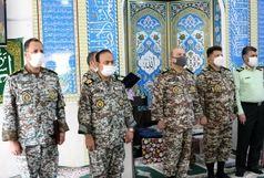 مراسم تکریم ومعارفه ارشد نظامی ارتش در استان قم و فرمانده گروه پدافندهوایی حضرت معصومه (س) برگزار شد