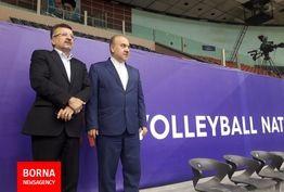 بازدید وزیر ورزش و جوانان از اردوی آماده سازی تیم ملی والیبال+ عکس