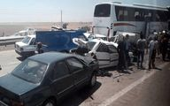 تصادف ماشین همراهان نمایندگان مجلس با یک کامیون/نماینده مردم چابهار در سفر حضور نداشته است
