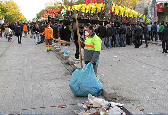 جمع آوری بیش از 2 هزار تن پسماند در تاسوعا و عاشورای اصفهان/ ظروف یکبار مصرف،بیشترین پسماند