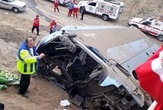 واژگونی مینی بوس در اصفهان هفت مصدوم برجای گذاشت