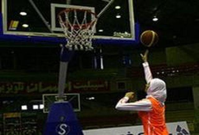 تیم بسکتبال بانوان گروه بهمن برنده شد