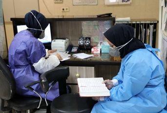 دعای عرفه در بیمارستان کامکار قم