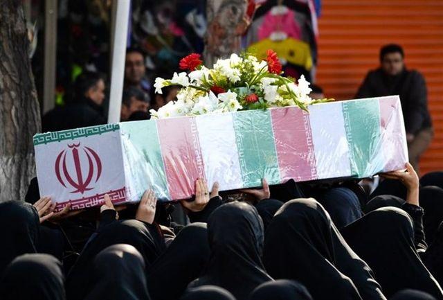 پیکر سه شهید از شهدای مدافع حرم تیپ فاطمیون در شهرری تشییع شد