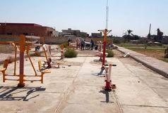 ست ورزشی در پارکهای شهر شادگان نصب شد