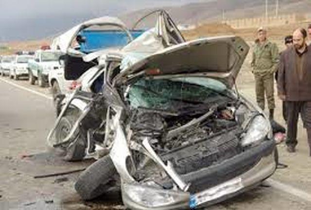 ۸ نفر مصدوم در حادثه واژگونی خودرو پراید