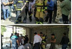 انفجار در ساختمان نیمهکاره موجب قطع عضو یک کارگر شد