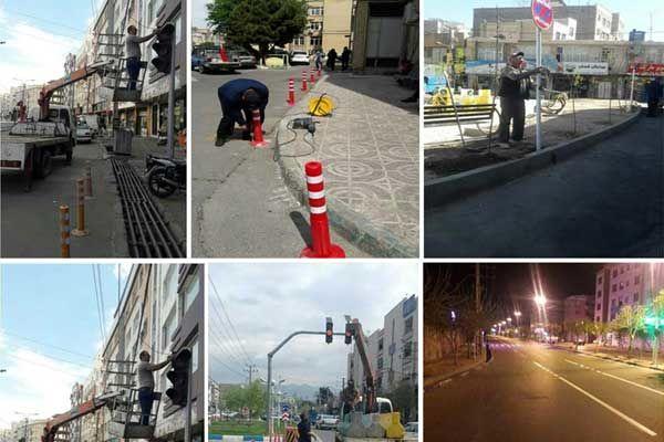 ساماندهی و نصب علائم و تابلوهای ترافیکی در سطح شهر قدس