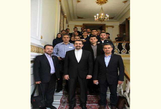 دیدار سفیر ایران در مسکو با اعضای تیم ملی تکواندو