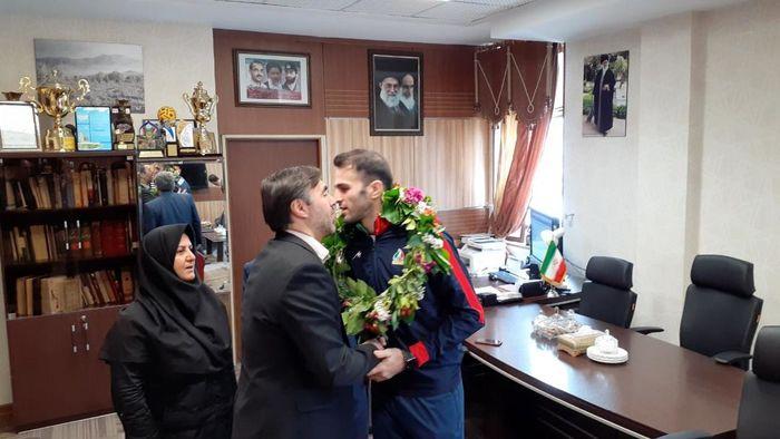 پیام تبریک مدیرکل ورزش و جوانان قزوین در پی کسب سهمیه المپیک بهمن عسگری