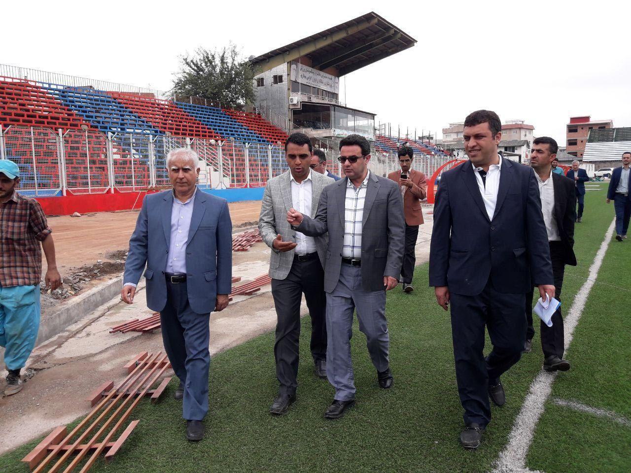 Image result for بازسازی استادیوم شهید وطنی فرماندار