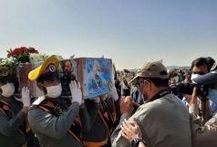 پیکر شهید سردار حجازی در خاک آرام گرفت
