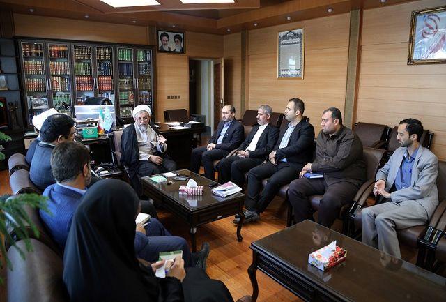 هیات مدیره خانه مطبوعات قزوین با رئیس کل دادگستری دیدار کردند