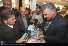 بازدید وزیر راه از غرفه بندر شهید رجایی در نمایشگاه بین المللی حمل و نقل