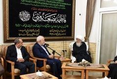 وزیر امور خارجه با آیتالله وحید خراسانی دیدار کرد