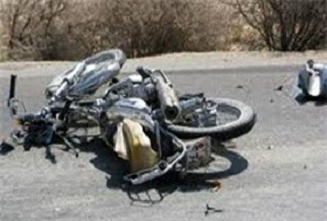 مصدومیت ۳ نفر در حادثه برخورد دو دستگاه موتور سیکلت