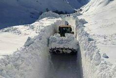 مسدود بودن محور مهاباد به بوکان بعلت برف سنگین