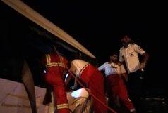 تصادف اتوبوس با تریلر در جاده کاشان- قم/22 نفر مصدوم شدند