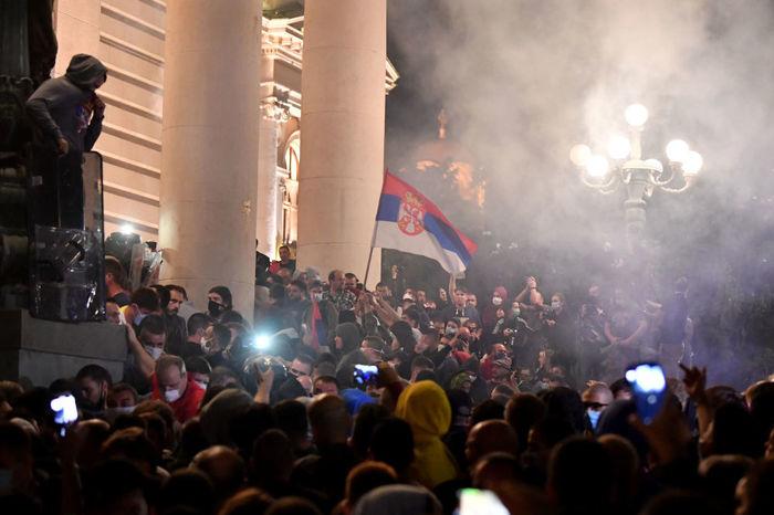 ناآرامی ها و اعتراضات در صربستان