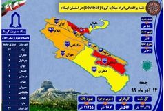 آخرین و جدیدترین آمار کرونایی استان ایلام تا ۱۴ آذر ۹۹
