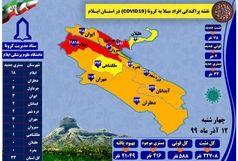 آخرین و جدیدترین آمار کرونایی استان ایلام تا 12 آذر 99