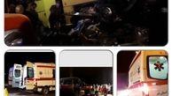 واژگونی اتوبوس با ۱۶ مجروح و فوتی در قم/۱۰ آمبولانس اورژانس به منطقه اعزام شد