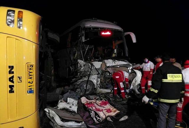 تصادف خودروها در قزوین سه کشته برجای گذاشت