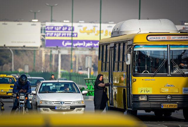 دو خرابی اتوبوس در دو نقطه از شهر در اوج ترافیک صبحگاهی