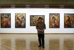 نمایشگاه نقاشی حجت شکیبا با نمایش اثری از زنده یاد جمشید مشایخی