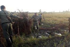 تخریب دو باب کومه نما در اراضی زراعی تالش