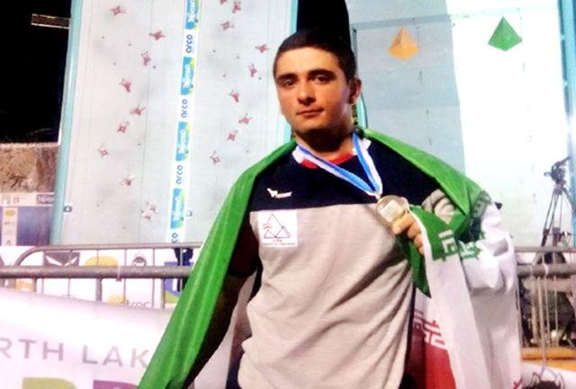 نقره علیپور در سنگ نوردی قهرمانی جهان